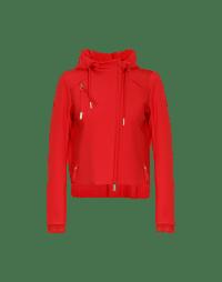 FLUTE: Hi-lo hem shirt hooded jacket
