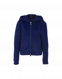 COLLECTIVE: Luxe hoodie jacket in electric blue tech velour