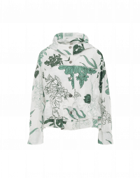 ELEMENT: Lightweight windcheater in white and green floral