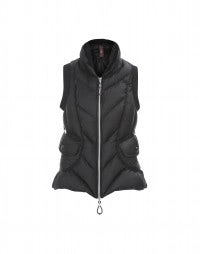 NIMBUS: Black ultra light down-filled waistcoat