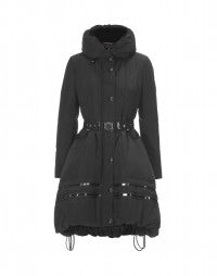 TORRENT: Black tech taffetà padded coat