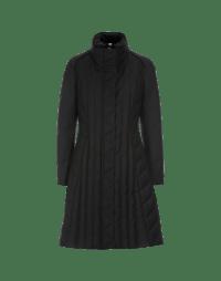 STORMY: Cappotto imbottito e sagomato in twill nero
