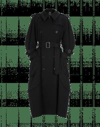 DIALECT: Cappotto a impermeabile in twill nero