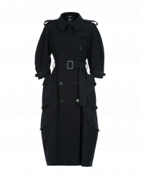 DIALECT: Navy twill trench coat