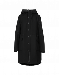 APPROACH: Black Duffle coat