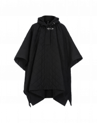 TWISTER: Quilted cape in black polyester
