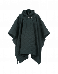 TWISTER: Quilted cape in winter green polyester