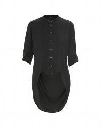 BIBELOT: Black tuxedo shirt