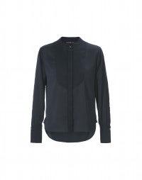 VIGIL: Camicia navy in stile tuxedo