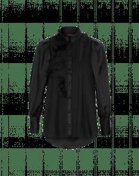 PHRASE: Asymmetric ruffle shirt
