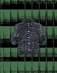 CHANCE: Camicia corta in raso e chiffon tecnico