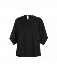 ISOLATE: Matt and shine black 3/4 sleeve top