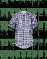 APT: Camicia blu e bianca con motivo Vichy