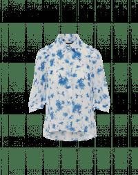 COMPANION: Camicia in crêpe tecnico con stampa floreale