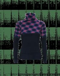 ALPINE: Funnel neck top in tech jersey