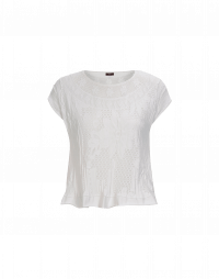 COUNT UP: Top bianco in maglia tecnica