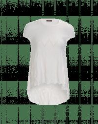 EXCITE: White seamless knit top