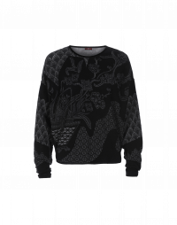 PERCHANCE: Geo-floral technical knit sweater