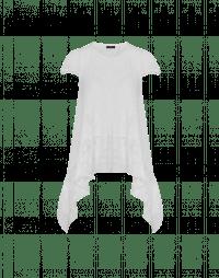 ROTATE: T-shirt drappeggiata con applicazione in pizzo