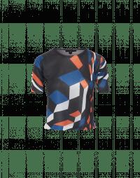 OPTIMISTIC: T-shirt a maniche corte con stampa a cubi