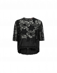 STARLIT: Embroidered mesh tech top