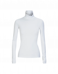 LOGICAL: White cotton stretch turtleneck