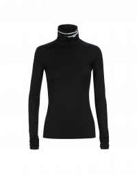 LOGICAL: Black cotton stretch turtleneck