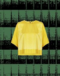 RUMOUR: Top giallo a pois in raso tecnico