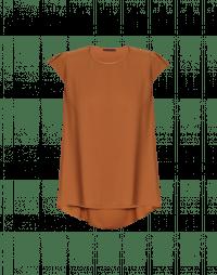 SWIFT: Tan cap sleeve top
