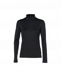 LOGICAL: Black stretch jersey turtleneck