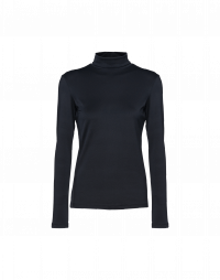 LOGICAL: Navy stretch jersey turtleneck