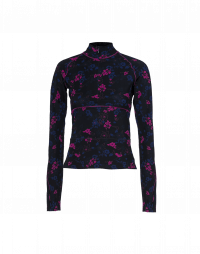 OVERTAKE: Zip-neck top in floral jersey