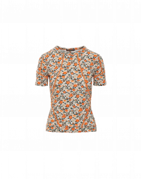 DECISION: Slim t-shirt in floral technical jersey