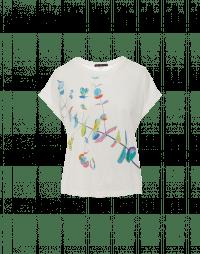 ARTWORK: T-shirt squadrata con stampa floreale