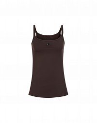 VANISH: Burgundy scoop neck singlet