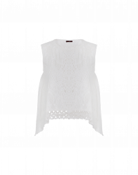 ORNATE: Tank top in ivory technical knit