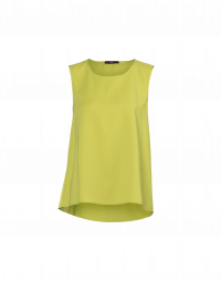 CUE: A-line tank in chartreuse tech satin