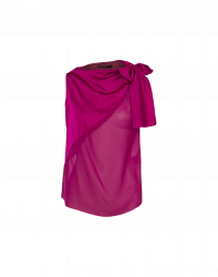 PERUSE: Soft draping sleeveless top with side tie