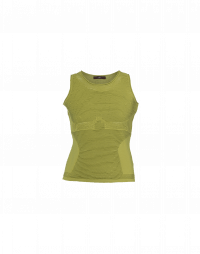LEFT OUT: Tank in plain and rib technical knit