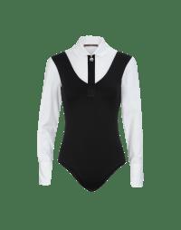 IMPROVISE: Black and white long sleeve body