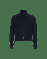 OVERTONE: Zip front high neck cardigan