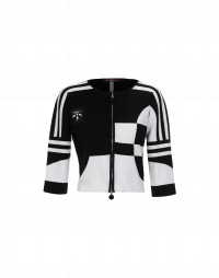 RALLY: Cardigan con zip bianco e nero