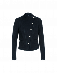 OUTWIT: Navy tech quilted jersey jacket with studs