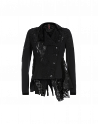 ARTFUL: Multi-fabric cardigan jacket
