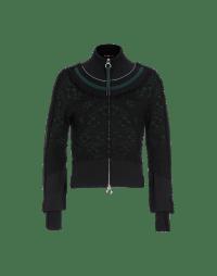 DIVERSE: Cardigan con zip frontale e balze