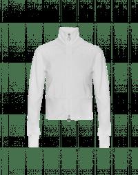 CONCEPTUAL: Cardigan bianco con zip in maglia tecnica