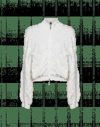 SHOW-OFF: Raised texture zip-front cardigan