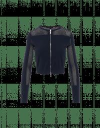 EMPATHIZE: Cardigan corto in maglia tecnica blu navy