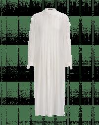 REGARD: Camicia lunga in georgette tecnica avorio