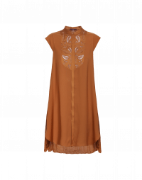 INTEREST: Camicia a tunica con plissé posteriore